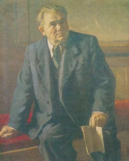 Картина:Портрет заслуженного артиста Казахской ССР Н. С. Каранова.