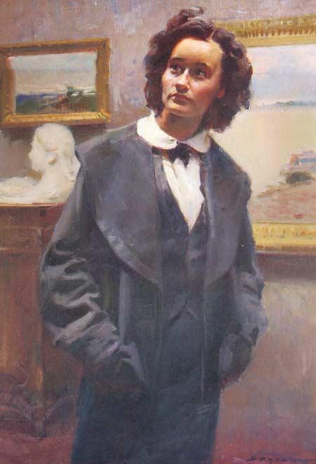 Картина:Портрет искусствоведа Е. Ф. Кожанной.