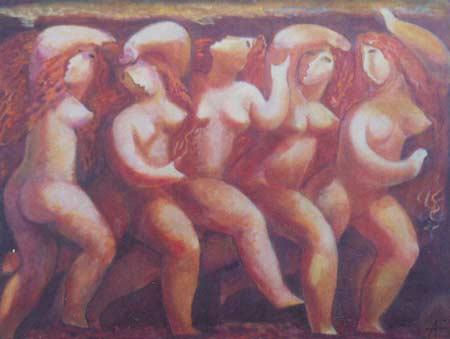 Картина:Убегающие Нереиды. Из серии Мифы.