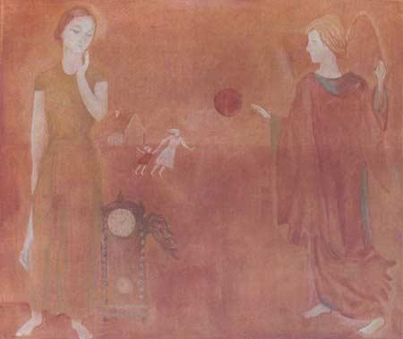 Картина:Часы Марка Шагала. Благовещение.