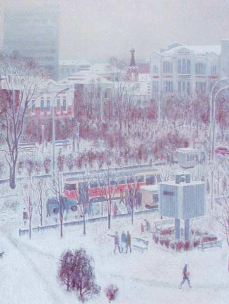 Картина:Зимний день в Ульяновске.