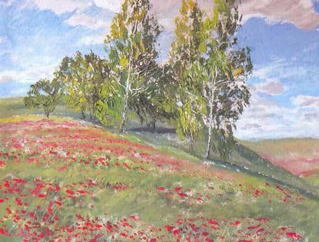 Картина:Лазорьки цветут.