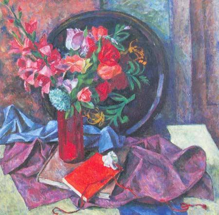 Картина:Натюрморт с искусственными цветами.