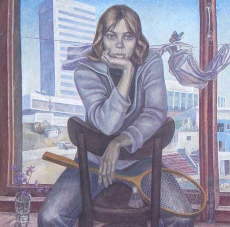 Картина:Портрет студентки Ульяновского педагогического института Ольги Сидоровой.