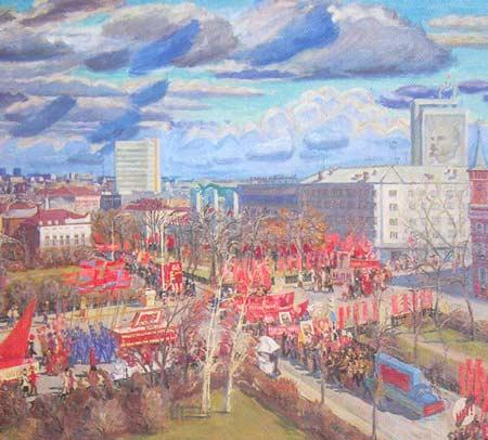Картина:Праздник на улице Ульяновска.