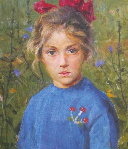 Картина:Портрет внучки гл. врача Покровского. г. Нижний Новгород.