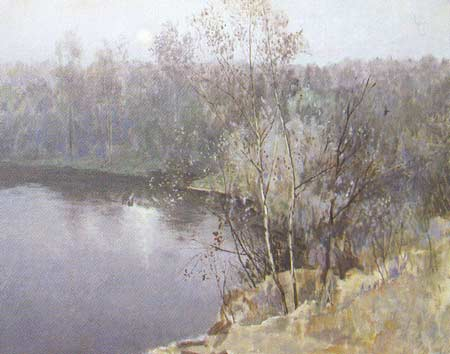 Картина:Тишина над озером.