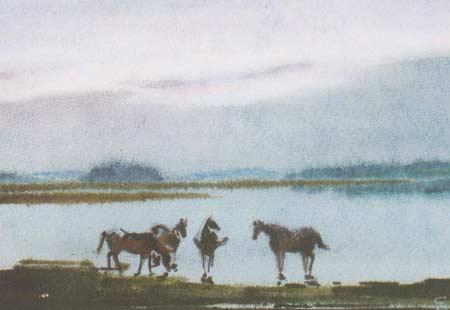 Картина:Белая ночь на Кенозере.