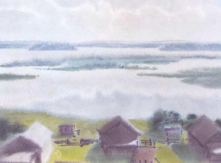 Картина:Кенозеро. Вид с горы.