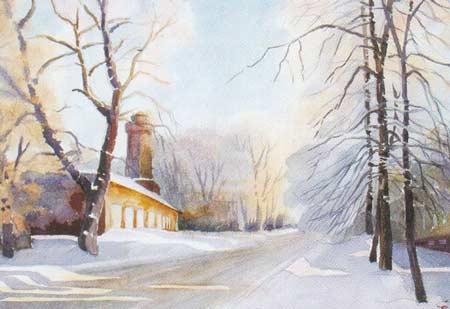 Картина:Ул. Ленина зимой.