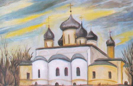 Картина:Федоровский монастырь в Переславль Залесском.