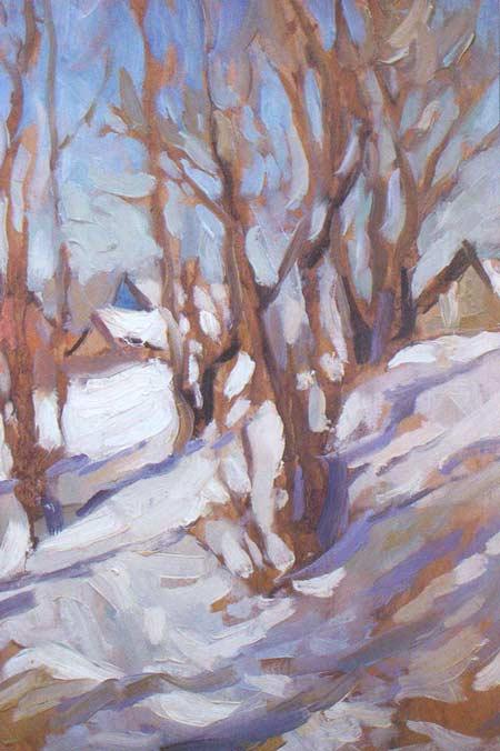 Картина:Тает снег.