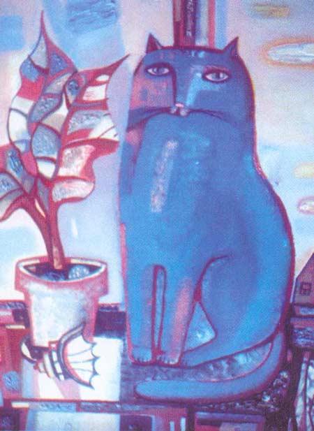 Картина:Синий кот.