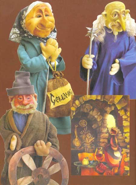 Картина:Куклы к спектаклю Сказка о Золотом Петушке по сказке А. С. Пушкина.