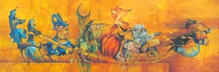 Картина:Эскизы кукол к спектаклю Золотой ключик, или Приключения Буратино по сказке А. Толстого.