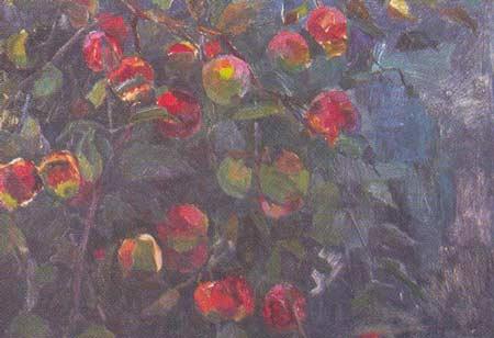 Картина:Ветка яблони.