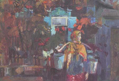 Картина:Женщина с полными ведрами.