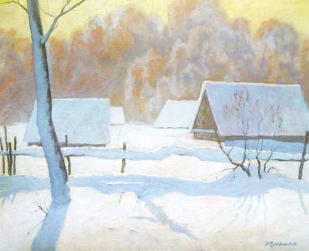 Картина:Зима на пасеке.