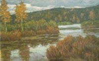 Картина:Лесное озеро