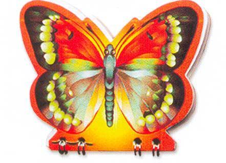 Картина:Блокнот с вырубкой Бабочка.