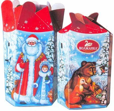 Картина:Новогодняя подарочная упаковка Шестилистник.