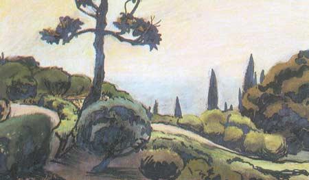Картина:Алупкинский парк.