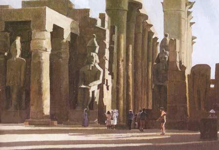 Картина:Карнакский храм. Египет.