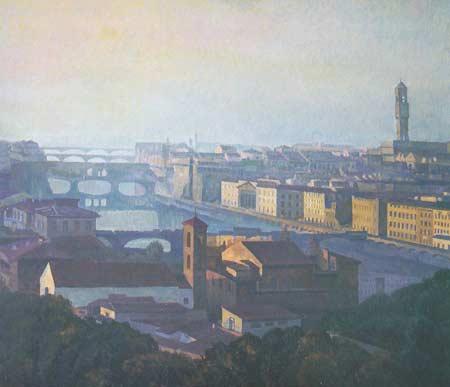 Картина:Флоренция. Мосты р. Арно.