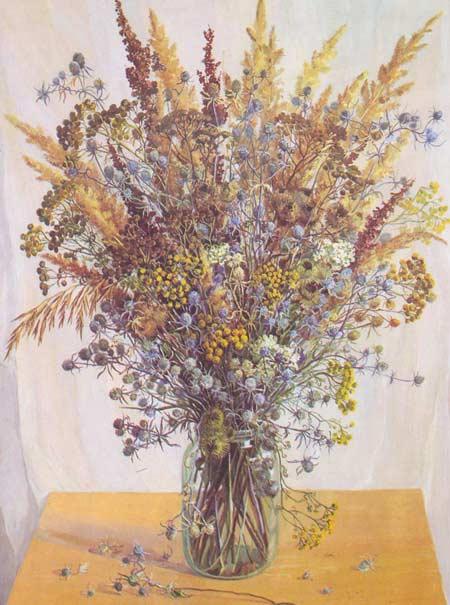 Картина:Букет сухих цветов.