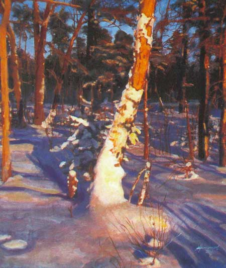 Картина:Зимний лес.