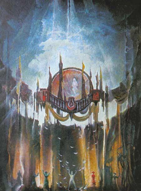 Картина:Декорации к спектаклю Неугомонный дух. Н. Коуард.