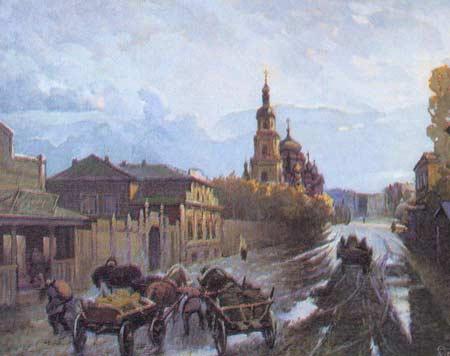 Картина:Симбирск. Улица Мостовая.