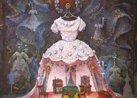 Картина:Эскиз декорации к спектаклю Женитьба. Н. В. Гоголь.