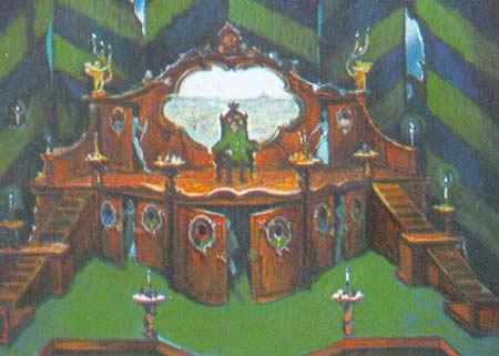 Картина:Эскиз декорации к спектаклю Ревизор. Н. В. Гоголь.