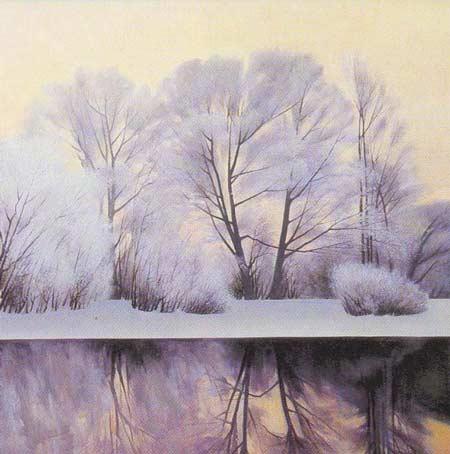 Картина:Иней на деревьях.
