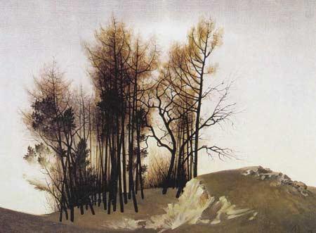 Картина:Осенние деревья.