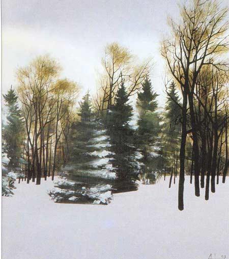 Картина:Парк зимой.