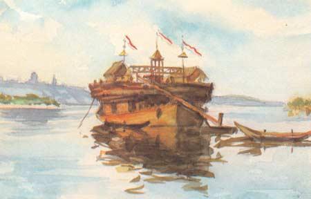 Картина:Вид на Симбирск с парохода Беляна.