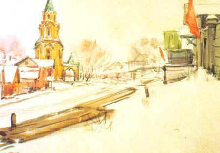 Картина:Московская улица (ныне ул. Ленина). Спуск к реке Свияге.